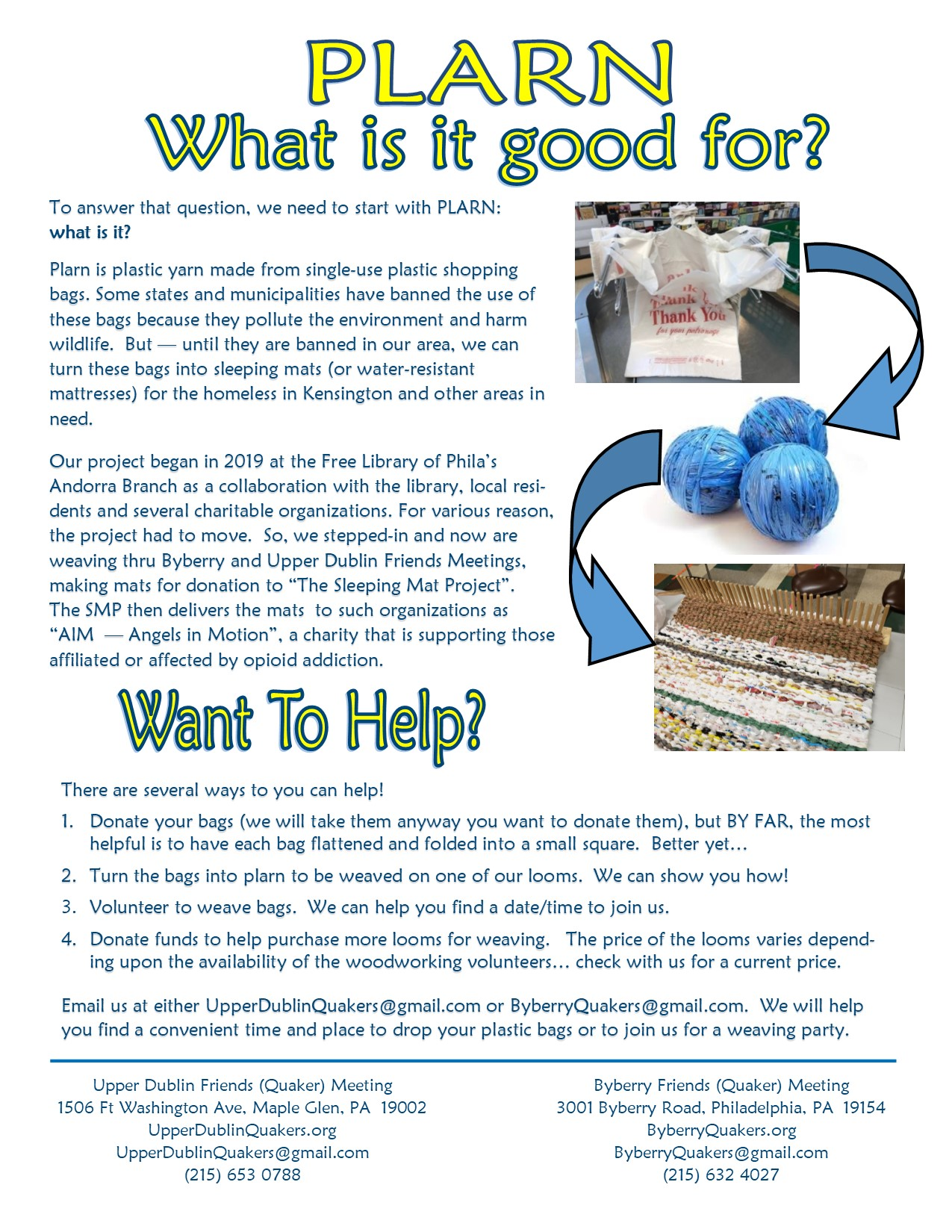 Plarn Explanation Flyer